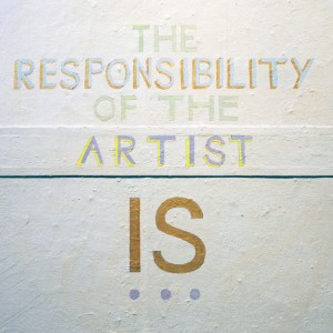 The Artist Is Responsilbe (2014) wall painting (detail)